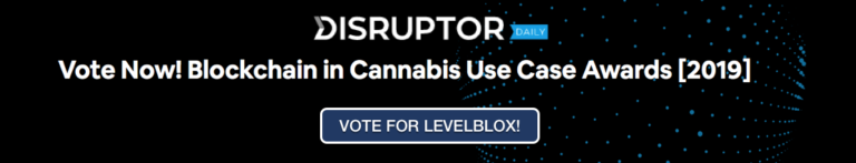 Vote for LevelBlox during the blockchain cannabis awards 2019